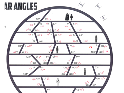 Death Star angles - Parallel lines answers