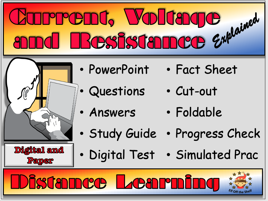 Current, Voltage and Resistance Explained Distance or Home Learning Pack for KS3