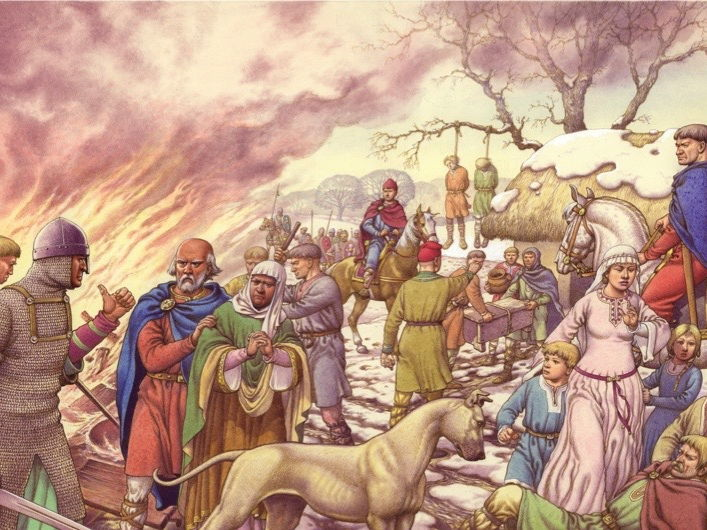 The Harrying of the North and Rebellions Against King William I and the Normans