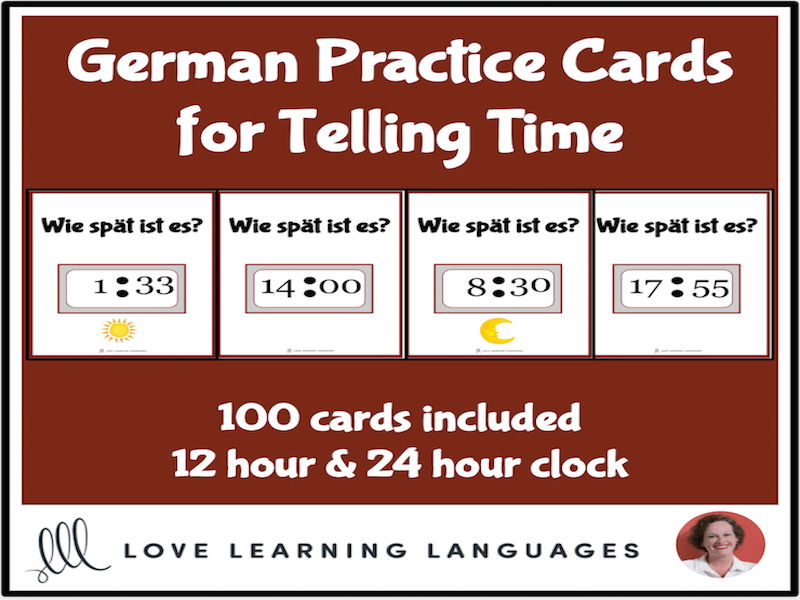German - Telling time task cards