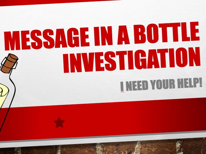 Longshore Drift Message in a Bottle Lesson