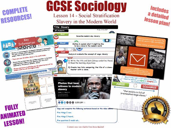 Slavery & Wage-Slavery - Social Stratification -L14/20 [ WJEC EDUQAS GCSE Sociology ]