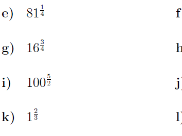 Fractional indices worksheets (with solutions)