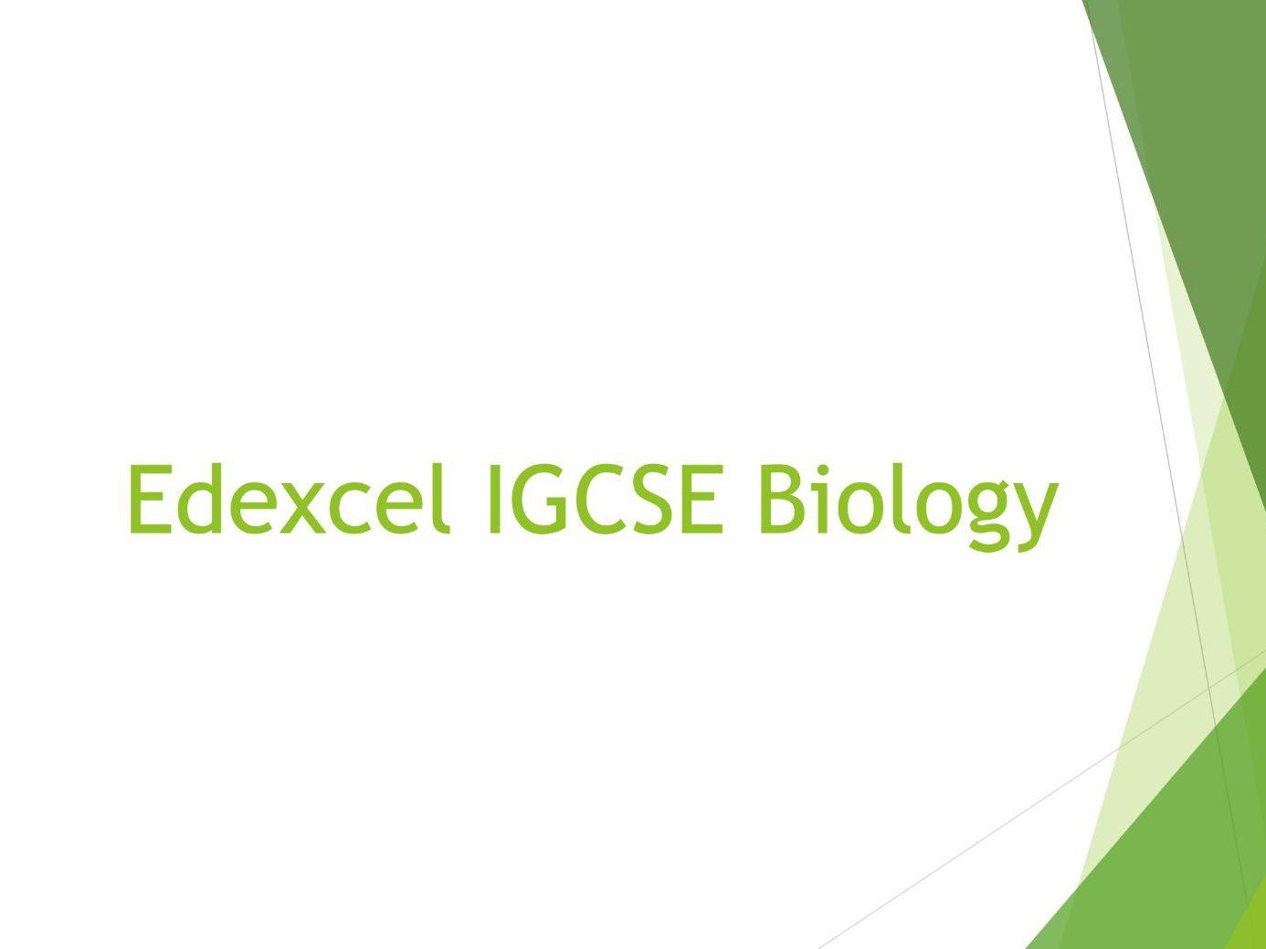 Biology Edexcel IGCSE PowerPoints - All units