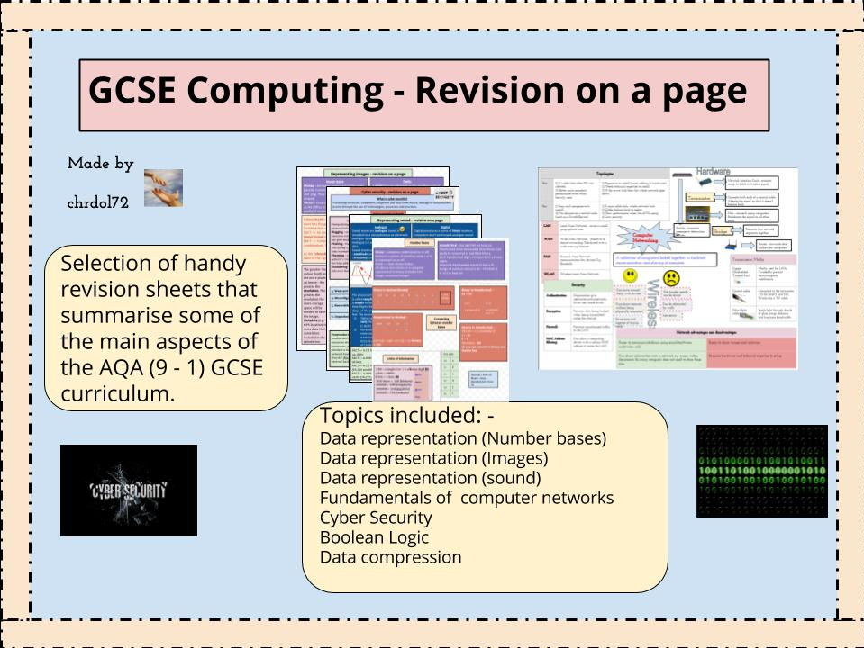 GCSE Computing Theory: Revision booklet (7 topics)