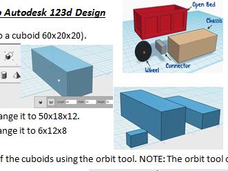 3D CAD satrting off. Using Autodesk 123d Design