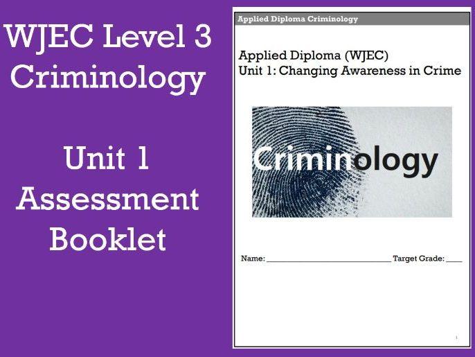 WJEC Level 3 Criminology Unit 1 Assessment Booklet