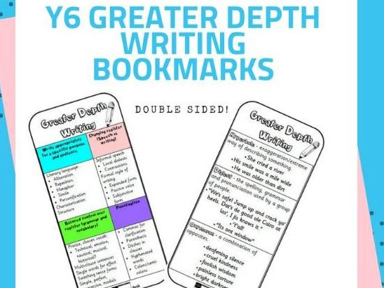 Y6 Greater Depth Writing Bookmark