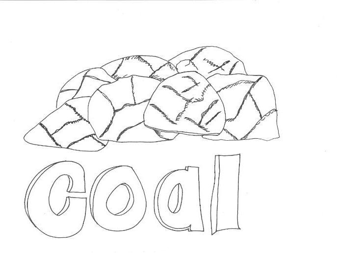 Coal Colouring Sheet