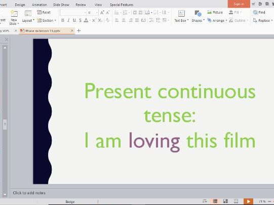 Phonics Phase 6 Whole Class Powerpoints Lessons 13-16 (lots of present tense practice!)