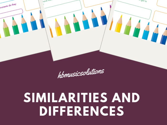 Similarities And Differences - Musical Instrument Families