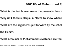 Capture Questions Life of Mohammed