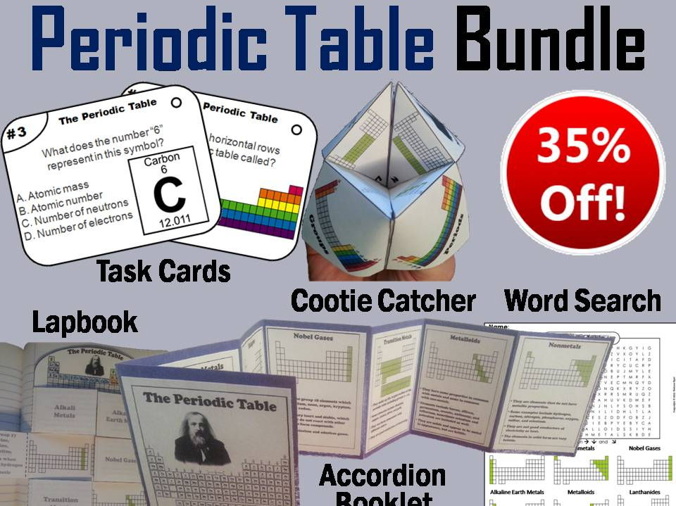 Periodic table of elements accordion booklet by sciencespot periodic table task cards and activities bundle urtaz Image collections