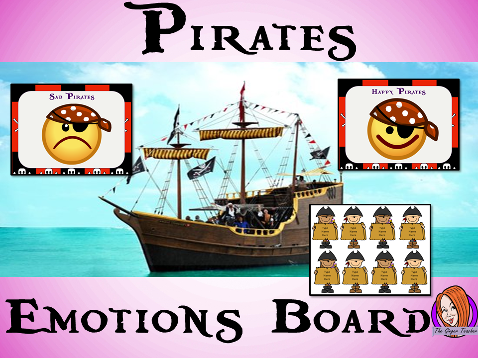 ** Pirate Themed Emotion Boards**