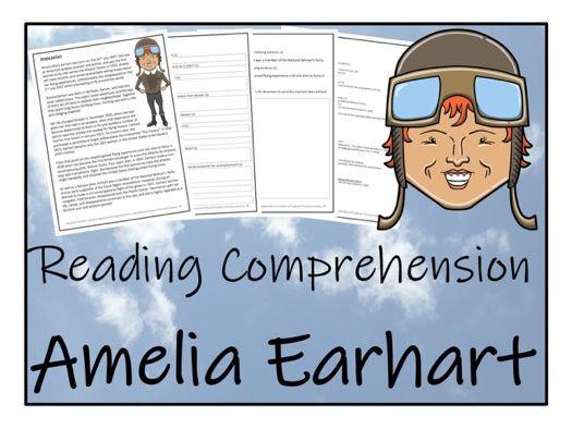 UKS2 History - Amelia Earhart Reading Comprehension Activity