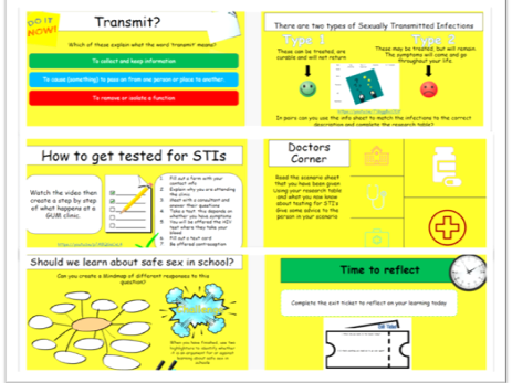 Sexually Transmitted Infections Lesson and Workpack