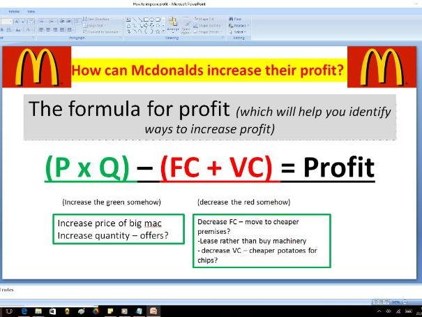 How to improve profit - GCSE Business