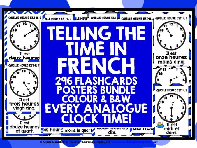 FRENCH TELLING TIME POSTERS