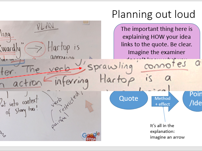 Language Paper 1 - Hartops - Walk Through with AQA models and class