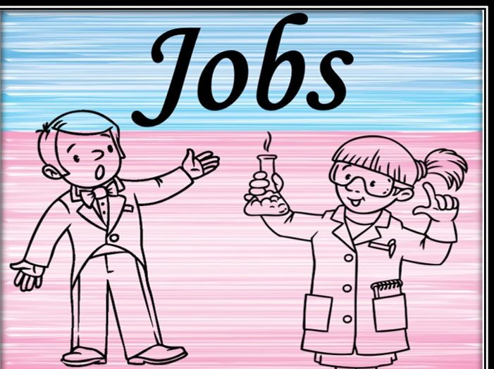 Jobs. Colouring pages.
