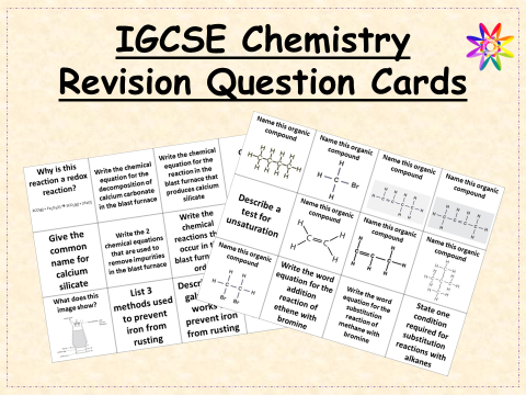IGCSE Chemistry Revision Question Cards