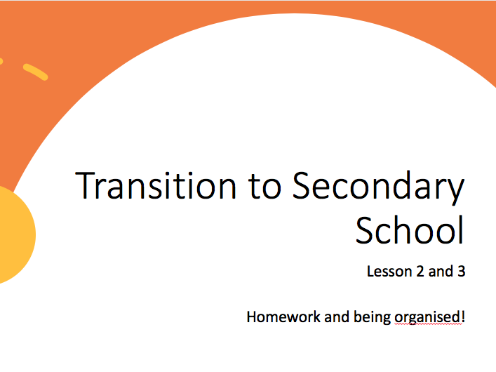 Transition Lessons 2 and 3