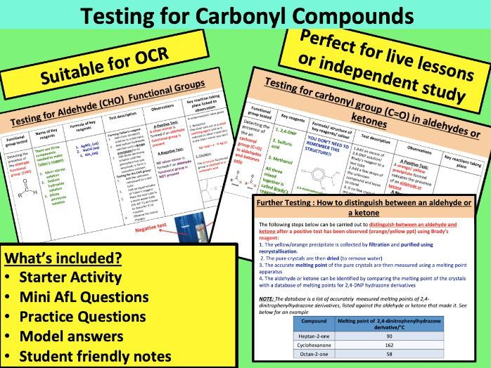 Testing for Carbonyl Compounds