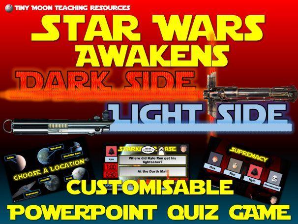 Star Wars Awakens Light Side Dark Side PowerPoint Quiz Game