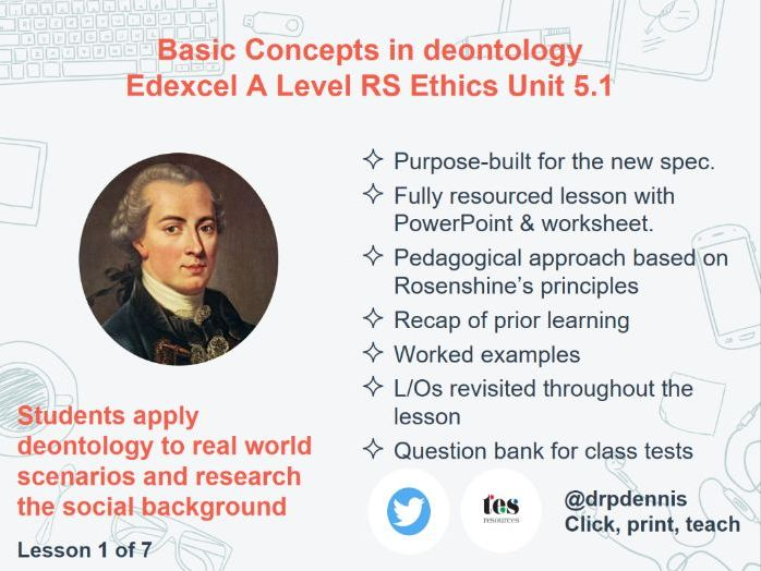 Deontology: Basic Concepts (Edexcel A Level *new spec*)