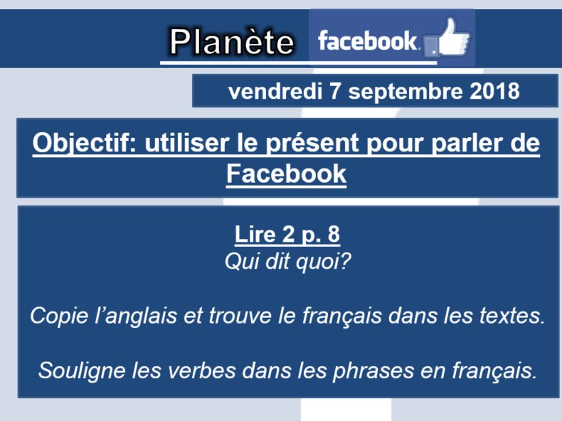 Planete Facebook (2 lessons) - Studio 3 Rouge Module 1 Unit 1