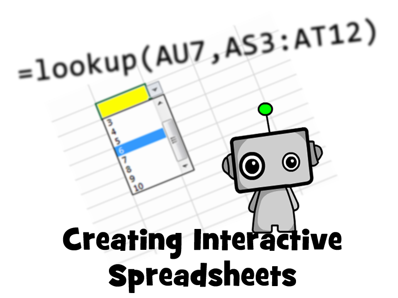 How to create an interactive spreadsheet