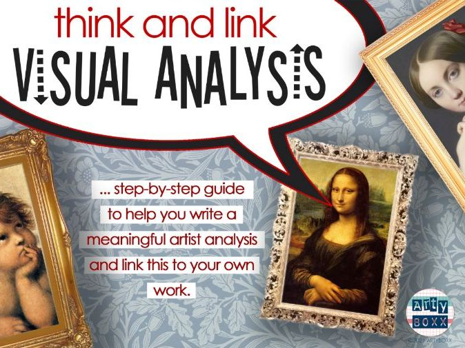 THINK & LINK VISUAL ANALYSIS: Detailed Guide to Support Artist Analysis - Poster