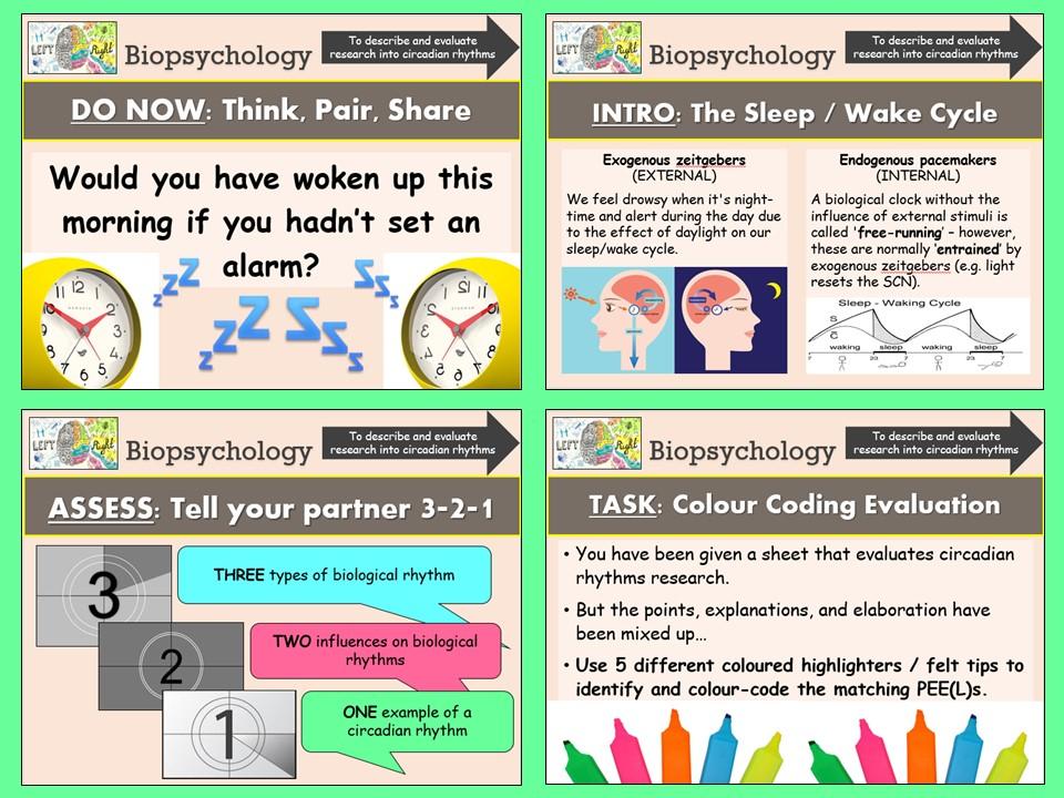 AQA A-level Psychology Biopsychology - Circadian Rhythms