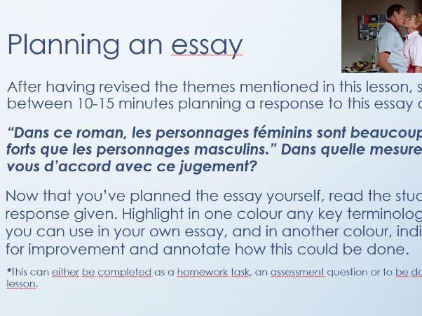 Bonjour Tristesse Revision Lesson