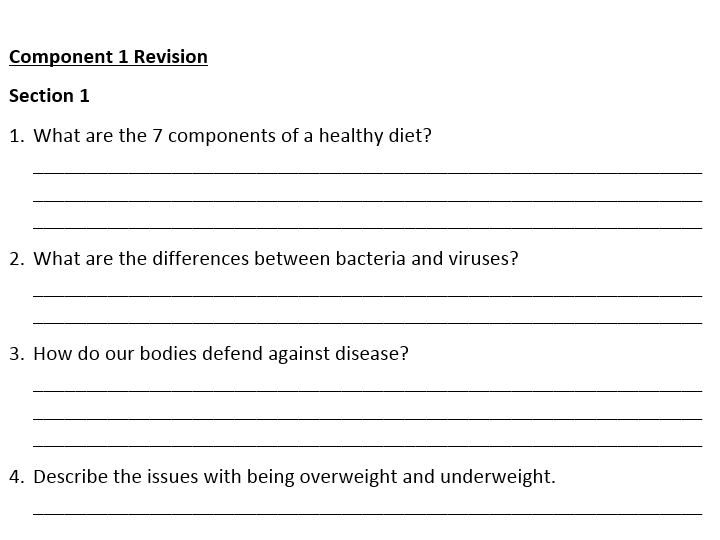 Old spec AQA ELC Science Component 1 Revision