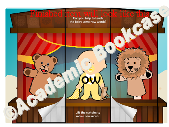 Puppet theatre word maker - Phase 3 'ow' words