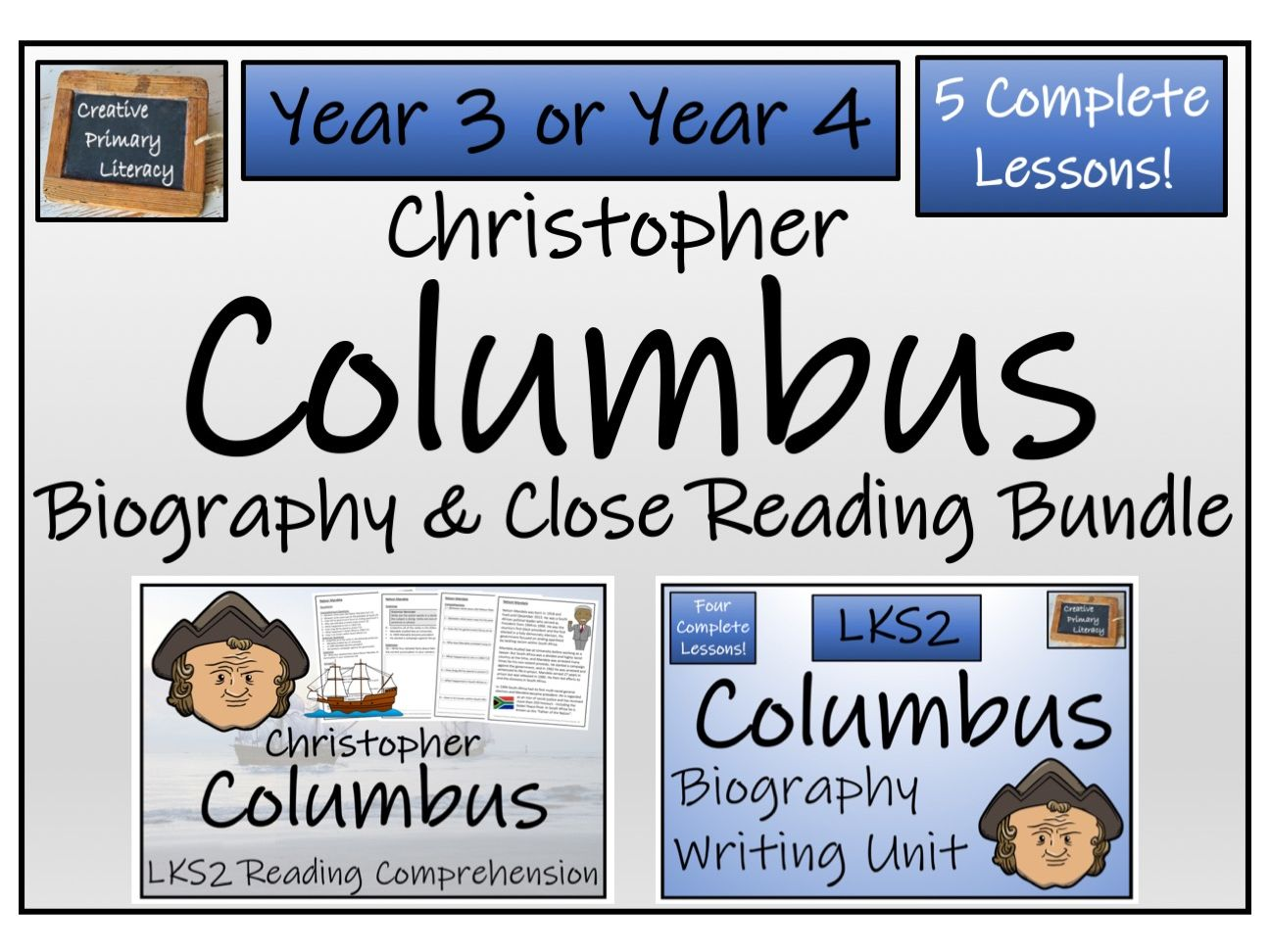 LKS2 History - Christopher Columbus Reading Comprehension & Biography Bundle