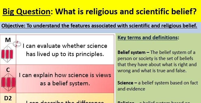 Science and religion lesson