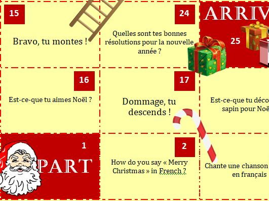 Christmas Snake and Ladders (Jeu de l'oie de Noël)