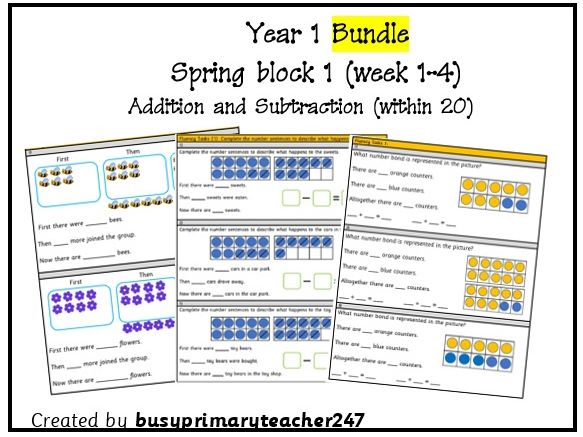 Year 1 - Spring Block 1 - Addition and Subtraction (within 20) - Weeks 1-4
