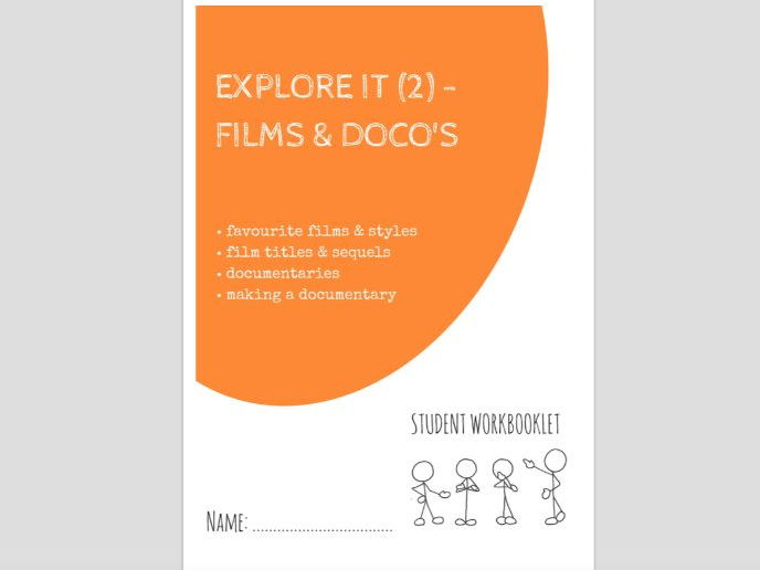 SPECIAL EDUCATION - EXPLORE IT (2) - FILMS & DOCUMENTARIES workbooklet