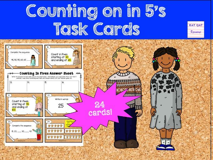 Counting on in 5s Year 1 Maths Task Cards