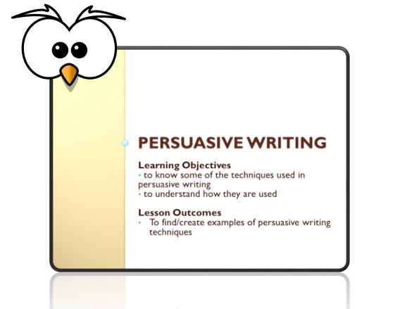 FLARRDs Persuasive Writing Techniques
