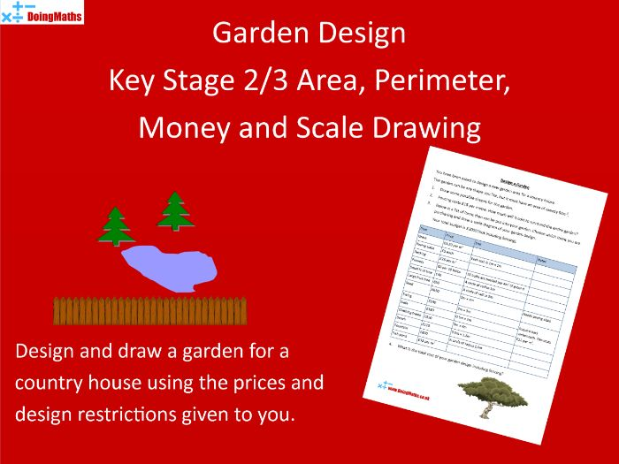 Designing a Garden Activity Worksheet