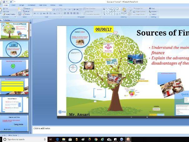 AQA GCSE Business (9-1) 3.6.1 Sources of finance