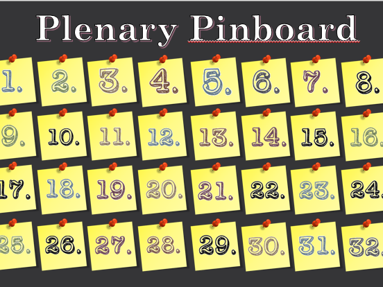Plenary Pinboard
