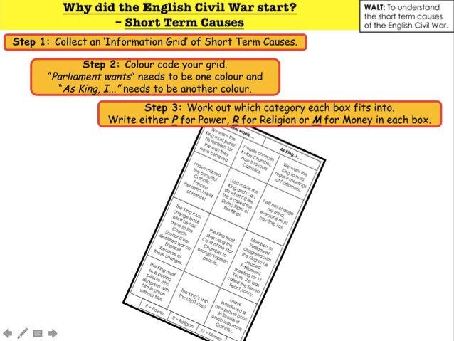 English Civil War Why did the English Civil War start?  – Short Term Causes