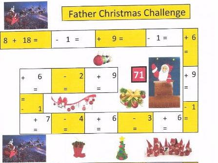Father Christmas Maths Challenge