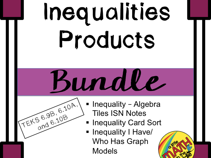 Inequalities Products Bundle