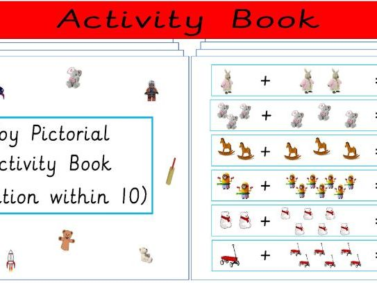 Toy Pictorial Addition Activity Book